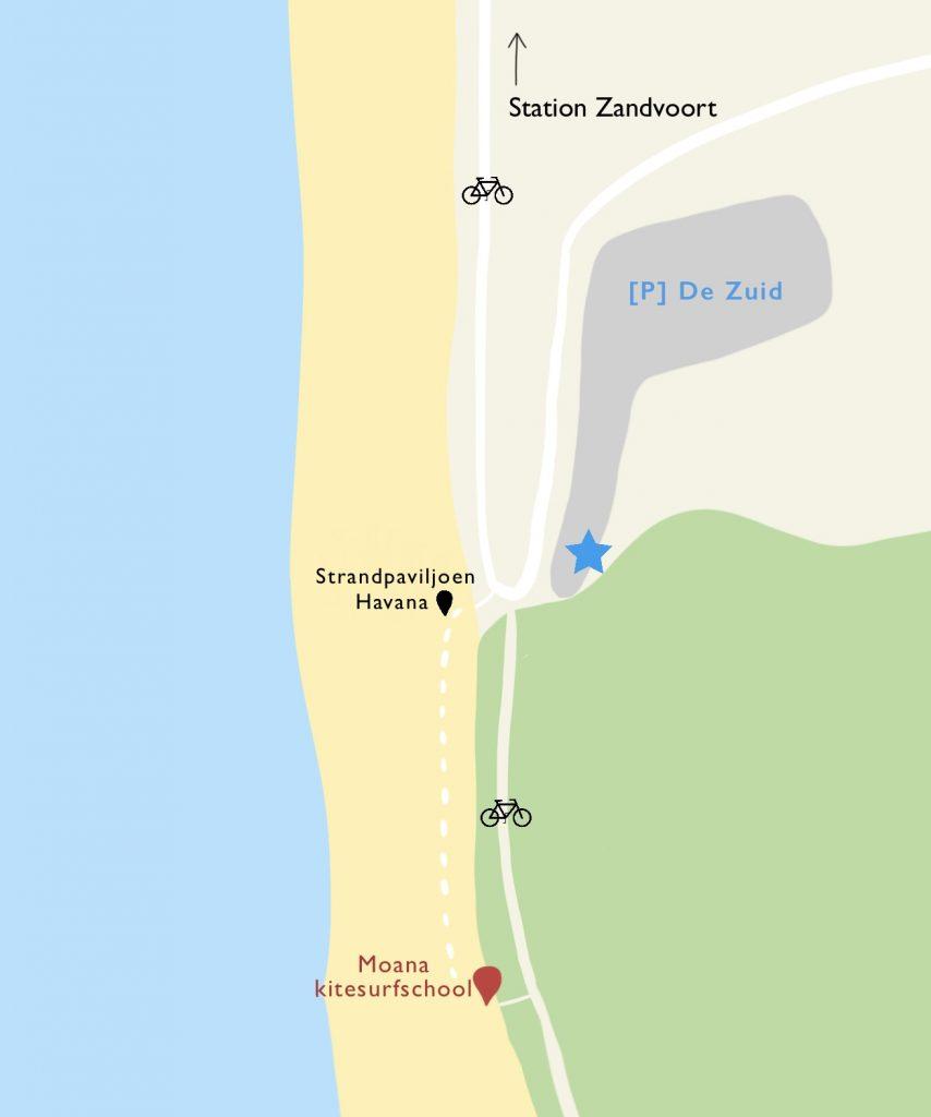 Locatie Moana Kitesurfschool